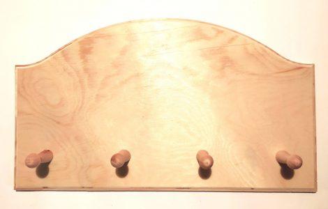 Íves akasztó, 5 gombos 35,5*16 cm 10289