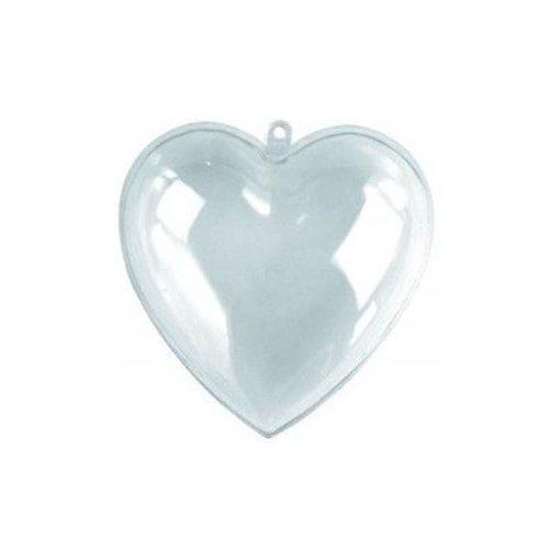 Átlátszó műanyag / akril szív 3 részes 10 cm-es 23309
