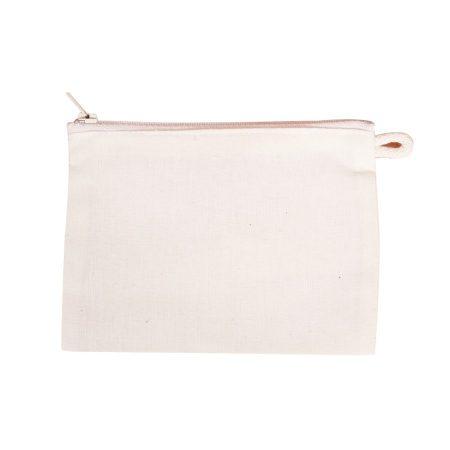 Lenvászon papírzsepkendő tartó cipzáras 15*11 cm