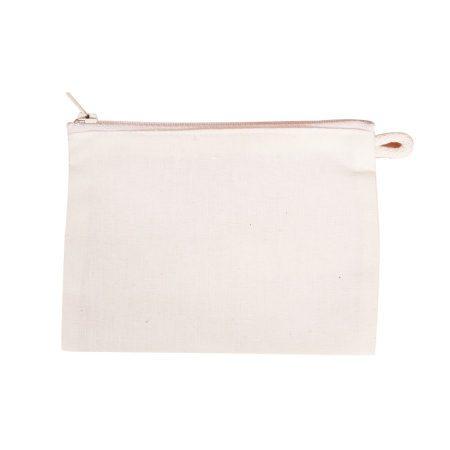 Lenvászon papírzsepkendő tartó cipzáras 15*11 cm 128