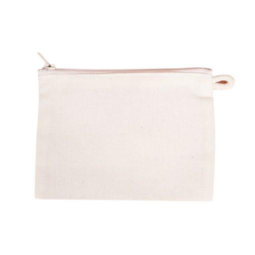 Lenvászon papírzsebkendő tartó cipzáras 15*11 cm 128