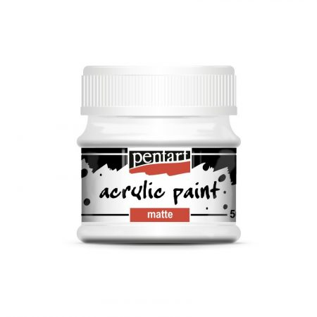 Pentart matt akrilfesték 50 ml, 75 színben