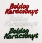 """Filc felirat """"Boldog karácsonyt"""" 3 db, piros/ fehér/ zöld 26170"""