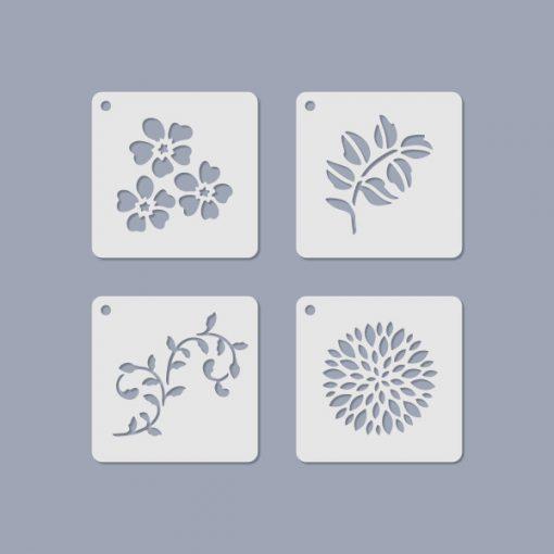 Stencil / Sablon JST-011 6,5*6,5cm*0,2mm 4db/cs Mini 11