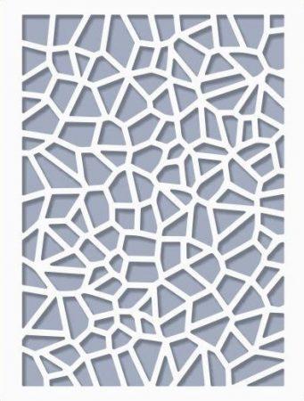 3D Stencil / Sablon TXS-004 7,5*10cm*0,5mm, texturáló