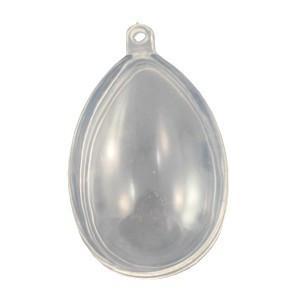 Átlátszó műanyag / akril tojás 8 cm-es 90-1095