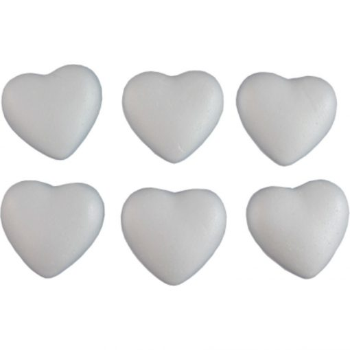Polisztirol / hungarocell szív 7 cm 2232