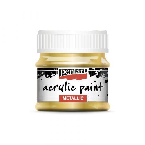 Pentart metál akrilfesték, 50 ml - Arany