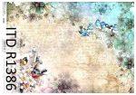 R1386 ITD Rizspapír A/4, 30gr -  Tavasz, madarak írással