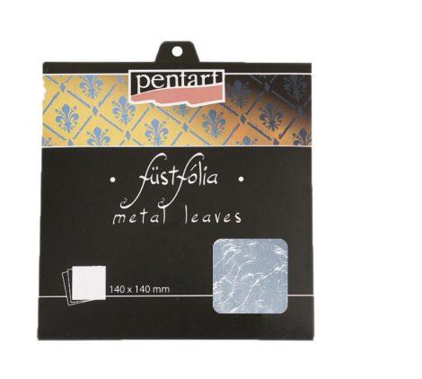Pentart füstfólia lap, ezüst, 14x14 cm, 5 lap/csom