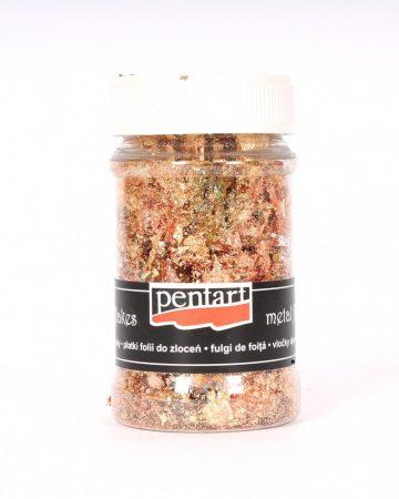 Pentart füstfólia pehely, Arany/réz kevert M4 100 ml