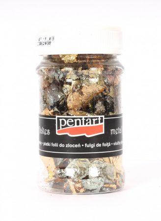 Pentart füstfólia pehely, Arany/ezüst kevert M6 100 ml