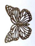 Fém díszítőelem, pillangó 5*3,5cm 10/cs 35200