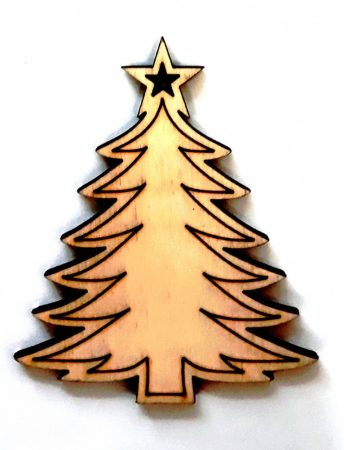 Fafigura 6-7 cm, karácsonyfa csillaggal 121