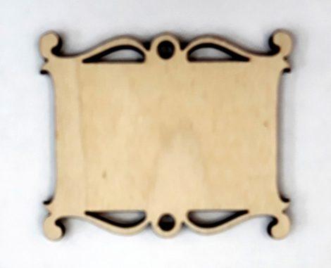 Fatábla / hűtőmágnes alap 6-7 cm indás 177