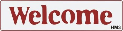 3D Stencil / sablon, 20*5*1cm, HM3 - Welcome