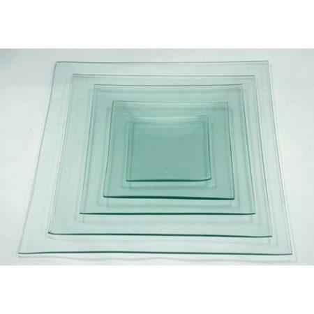 Üvegtál négyszögletes 25x25 cm-es 2836