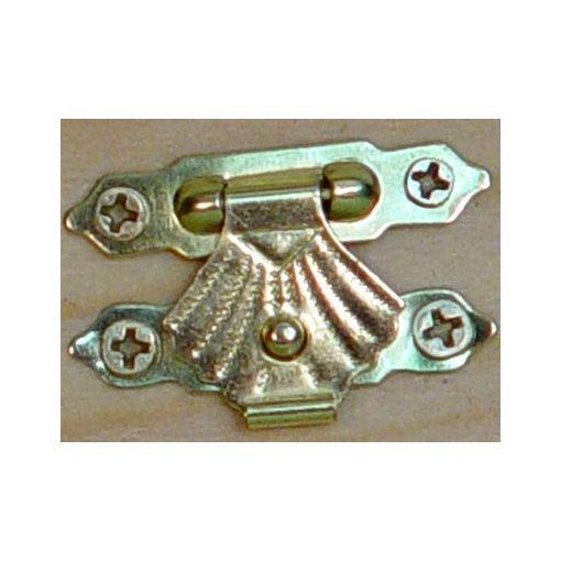 Zár szögekkel, arany, 3*2cm 5/cs 1065a C