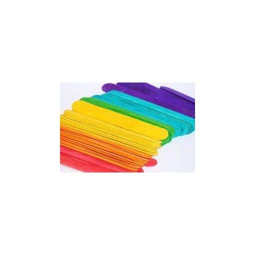 Dekor fa spatula / pálcika, színes 1*11cm, 50/cs 7331C