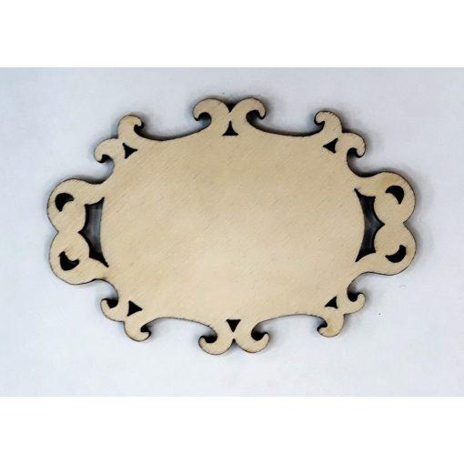 Fatábla / hűtőmágnes alap 6-7 cm ovál  barokkos 571