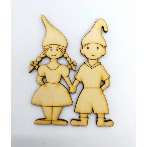 Manókellék - manófiú és lány, 8cm C5813
