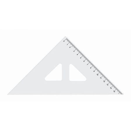 Vonalzó, 45° derékszögű, átlátszó 16 cm-es 19310/73744