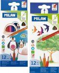 12 db-os színes ceruza készlet Milan háromszög 18481