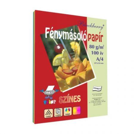 Színes fénymásoló papír A/4, Blackberry 80g 5*20ív/cs, intenzív színek  32439