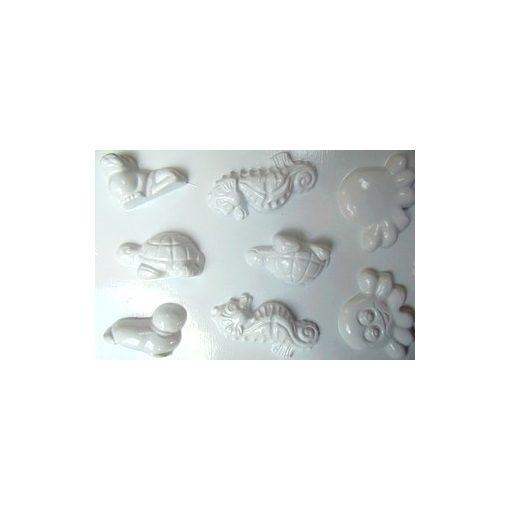 Gipszkiöntő 26*20cm, tengeri állatok 8db-os 059