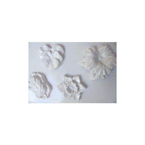 Gipszkiöntő, 26*20 cm, virágforma 4db-os 080