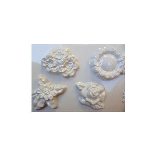 Gipszkiöntő, 26*20 cm, virágok 4db-os 125
