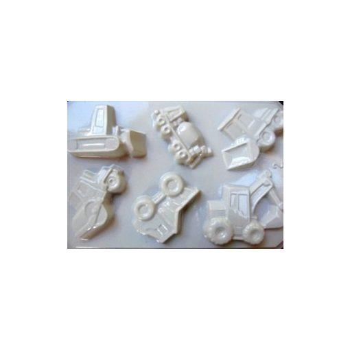 Gipszkiöntő, 26*20 cm, munkagépek 6db-os 002