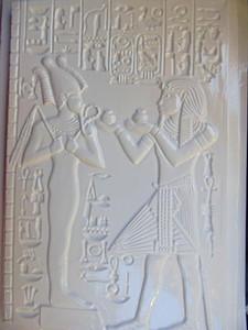Gipszkiöntő, 26*20 cm, egyiptomi kép Ozirisz 177