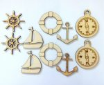 Fa hajós figurák 5-6cm 10db/cs 3504C