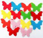 Filcfigura mini pillangók, 14db/cs, kb.3cm 23221