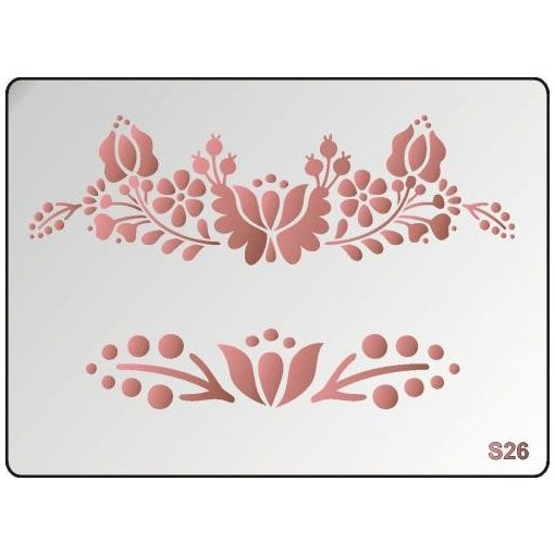 3D Stencil / sablon, 20*15*1 mm-es, S26
