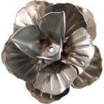 Fém díszítőelem, rózsa 3cm, 10/cs 29988
