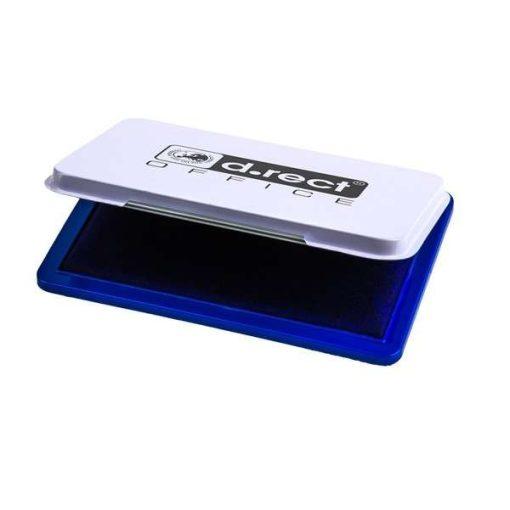 Festékpárna nyomdázáshoz, D.Rect fém, 7*11cm -  Fekete 103914