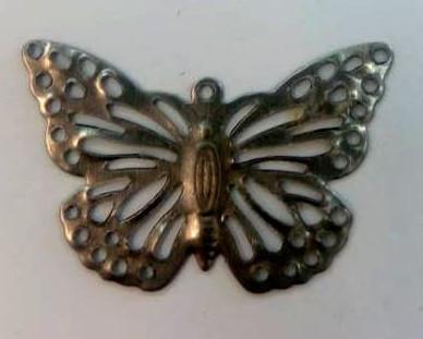 Fém díszítőelem, pillangó 2*3cm 10/cs 35181