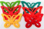 Filcfigura pillangók, áttört 6db/cs, kb.6cm 23222