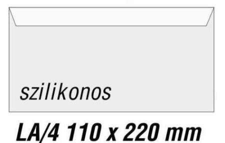 Boriték (csekkboriték) LA/4 , 11*22 cm, szilikonos 27019
