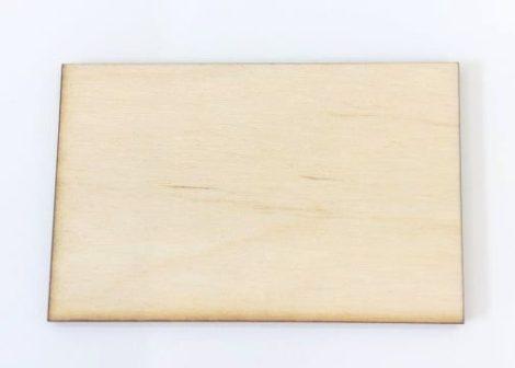 Fatábla / hűtőmágnes alap 7*4,5cm téglalap C3902