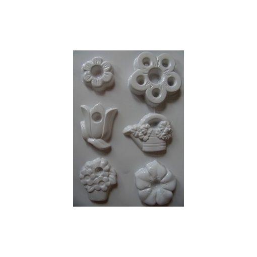 Gipszkiöntő 26*20cm, felakasztható virágok 056