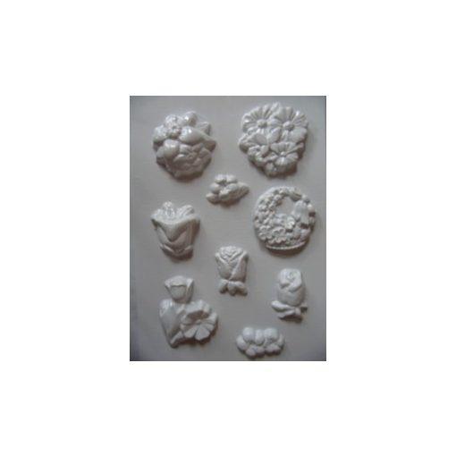 Gipszkiöntő 26*20cm, vegyes apró virágok 114