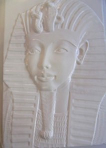 Gipszkiöntő 26*20cm, egyiptomi kép, Tutenhamon 133