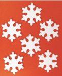 Filcfigura, hópehely kerekített 5-6cm, 6db/cs, 23252