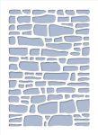 Stencil / Sablon HDS15-055 15*20cm*0,1mm Kőfal