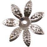 Fém díszítőelem, virág 1,8cm 10/cs 29974