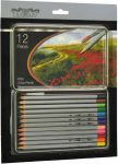 12 db-os színes ceruza készlet Diamart fémdobozos akvarell 102479
