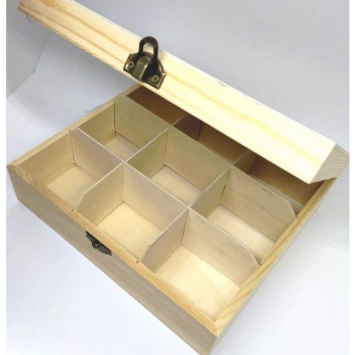 Teafilter tartó 9 rekeszes, átl.tetős 22*19*7 cm 5804